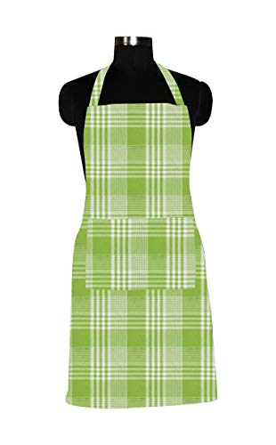 Airwill 100% Cotton Designer Home Use/Chefs Kitchen Apron with Free Sized and Long Straps on Both Sides, Adjustable Buckle on Top. Pack of 1 pc Price & Reviews