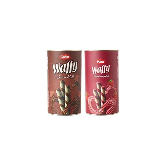 Guru Kripa Dukes Waffy Combo Pack Strawberry Roll , Choco Roll 300+300g