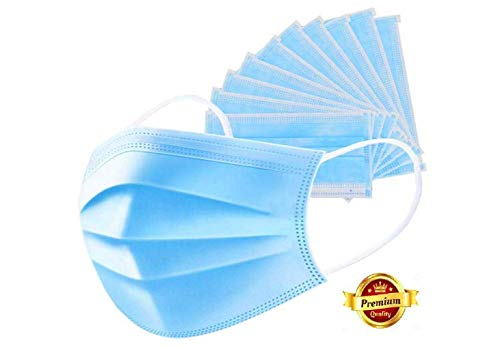 ST device with Star Delight Disposable Air Pollution and Protection 3-Ply Surgical Face Dust Mask with Tie (10 Masks, Sky Blue)