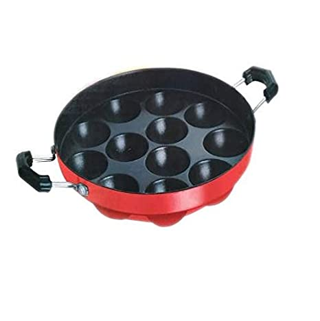 Best Quality Appemaker/Paniarakkal Non Stick Pan 24 cm Diameter with Lid  Aluminium, Non Stick  Pot   Pan Sets