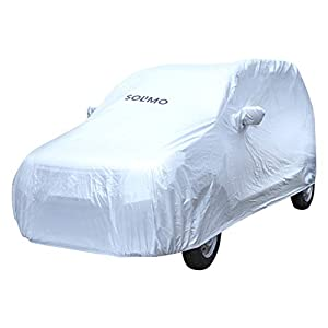 Amazon Brand – Solimo Maruti WagonR UV Protection & Dustproof Car Cover (Silver)