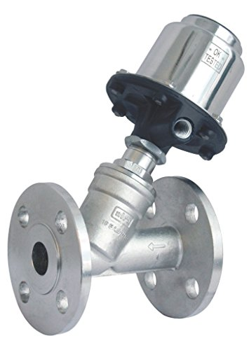 AIRA 2/2 Way Pneumatic Cylinder Operated Angle Type On / Off Control Valve (FLANGED) 2″-INCH