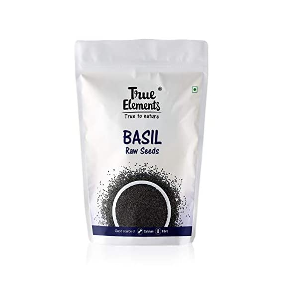 True Elements Raw Basil Seeds / Tukmariya Seeds for Weight Loss 500 Gm