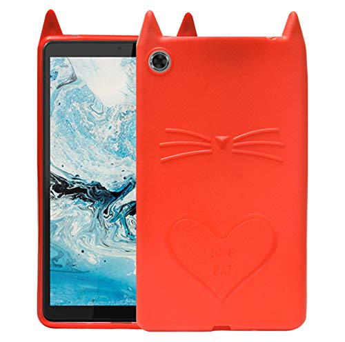 ECellStreet Designer Case Back Cover for Lenovo Tab M7 TB-7305F, TB-7305X, TB-7305L (Red, Shock Proof, Silicon)