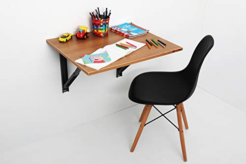 INVISIBLE BED Wall Mounted Foldable Study/computer/laptop Table (Dessert Walnut – 67.5cm x 56cm)