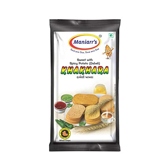 Maniarrs Dabeli Khakhra - 8 Packs Single Flavor, 360 Grams