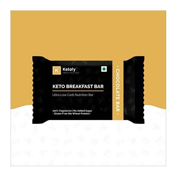 Ketofy - Keto Breakfast Bar (Pack of 6x50g) | Healthy Low Carb Breakfast Bar