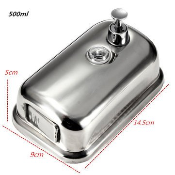 Generic Wall-Mounted Soap Dispenser Stainless Steel Liquid Soap Box 500Ml