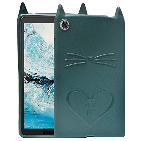 ECellStreet Designer Case Back Cover for Lenovo Tab M8, TB-8505X, TB-8505F, TB-8505N (Green, Shock Proof, Silicon)