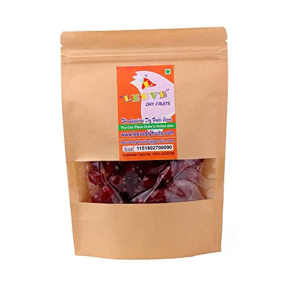 Leeve Dry Fruits Whole Red Cherries, 400g