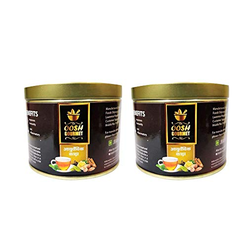 OOSH Gourmet's Ayurvedic Kadha for Immunity 200g (100g x 2)  Fight Cold, Flu , Soar Throat and Infections with This Ayurvedic Wonder
