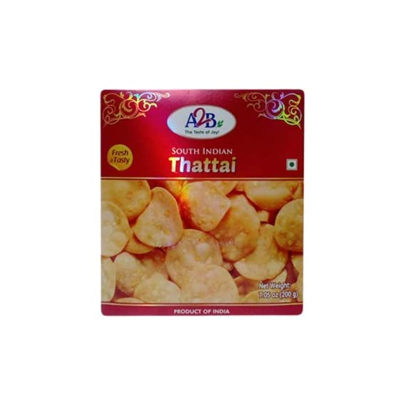Adyar Anand Bhavan Sweets and Snacks A2B South Indian Crispy Thattai (200 g)