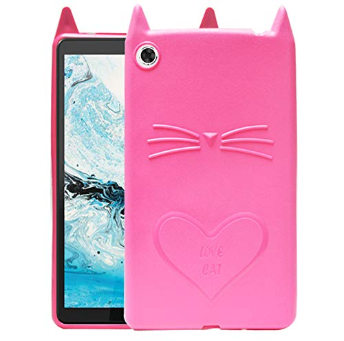 ECellStreet Designer Case Back Cover for Lenovo Tab M8, TB-8505X, TB-8505F, TB-8505N (Pink, Shock Proof, Silicon)