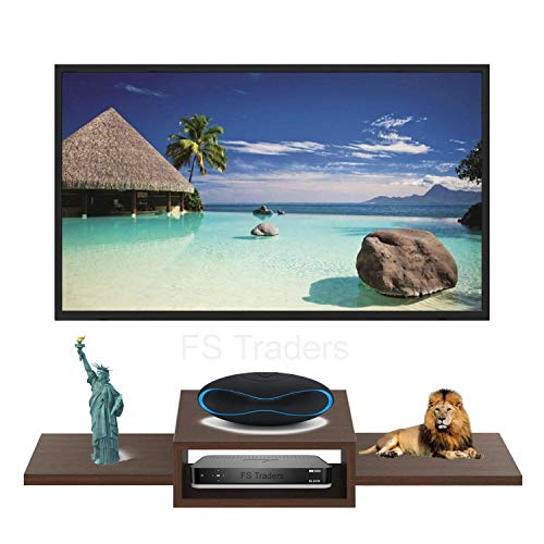 FS Traders® TV Entertainment Unit/Wall Set Top Box Stand Shelf (Standard, Brown)
