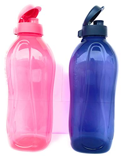 Nexxa Tupperware 2Liter Water Plastic Bottles Fliptop, Set Of 2 Price & Reviews