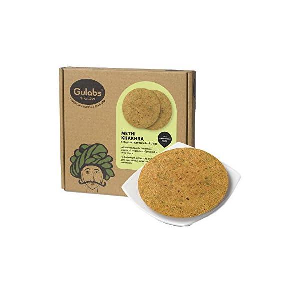 Gulabs Methi Khakhra Snack, 2 X 200 g