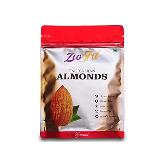 Ziofit Californian Almonds, 500g (Buy 1 Get 1 Free)