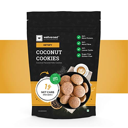 Ketofy – Coconut Keto Cookies (400g)   Bakery Style Gourmet Cookies   100% Sugar Free   Gluten Free
