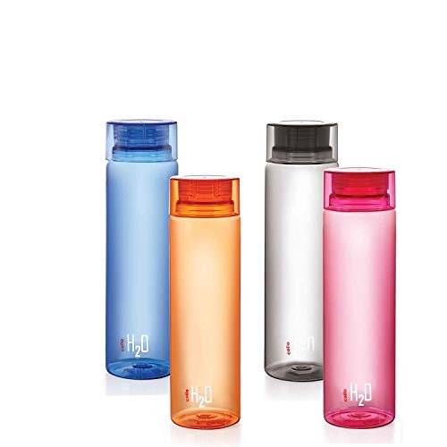Cello H2O Unbreakable Bottle , 1 Litre, Set of 4, Colour May Vary Price & Reviews