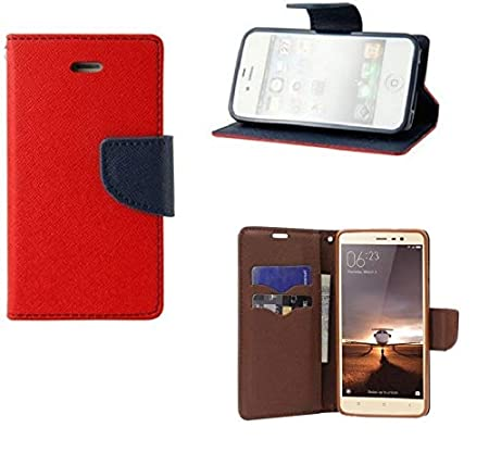 Coverage Vintage Leather Flip Cover for Asus Zenfone 2 Laser  5.5 Inches  ZE550KL   Red Mobile Accessories