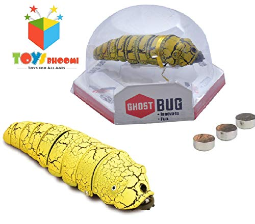 Toys Bhoomi Slithering Infrared Robotic Induction Bug Animal Kids Toys for Novelty and Gag Play Toy for Children (9908F-Yellow)
