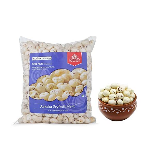 Ashoka Dry Fruits Lotus Seed Pop/Gorgon Nut Puffed Kernels (Phool Makhana) Fox Nut Organic, 1Kg