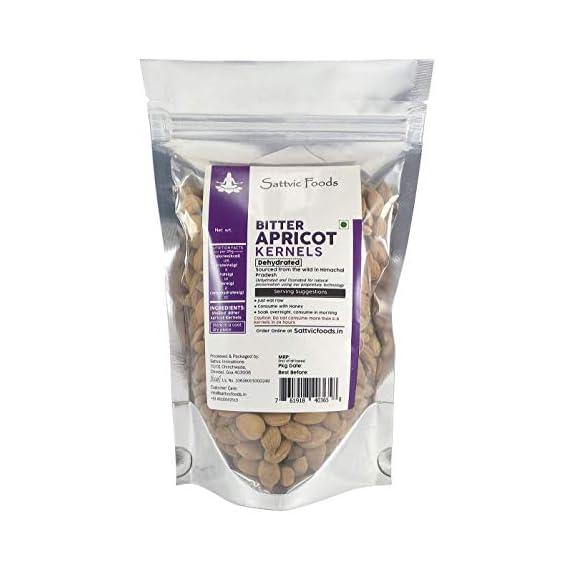 Sattvic Foods Wild Bitter Apricot Kernels, 250g