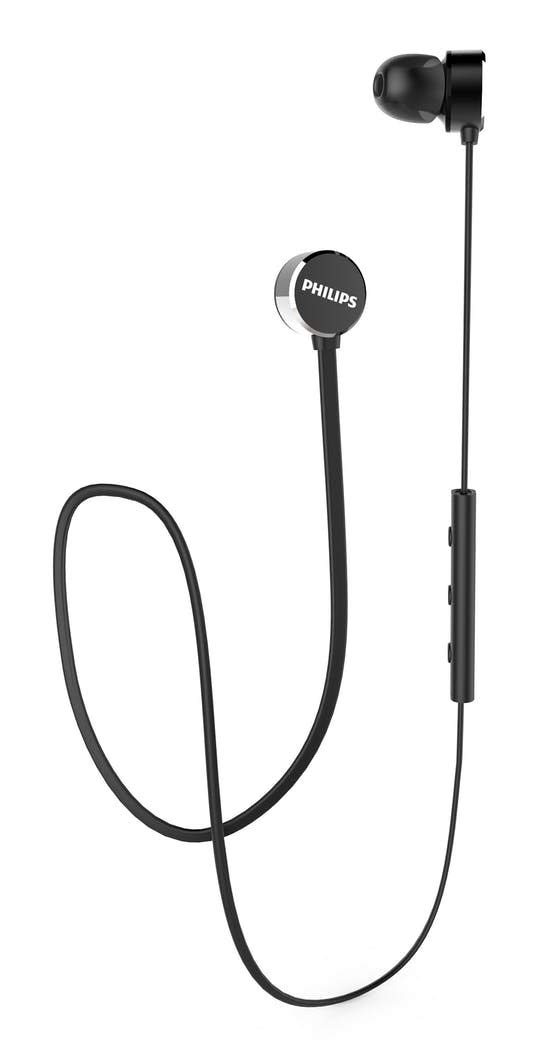 [Apply coupon] Philips UpBeat TAUN102BK Bluetooth 5.0 Earbuds with 7Hrs Playtime, IPX4 Splash-Proof Design, Magnetic Eartips, Quick Charge and Built-in Mic (Black)