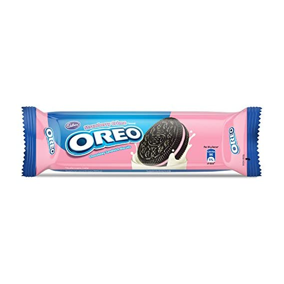 Cadbury Oreo Strawberry Creme Biscuit, 120 g