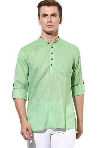 Priambh Men's cotton Green_Kurta_44