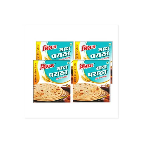 Miraj Ready to eat Plain Paratha 1 Flavor in 4 Different Packs