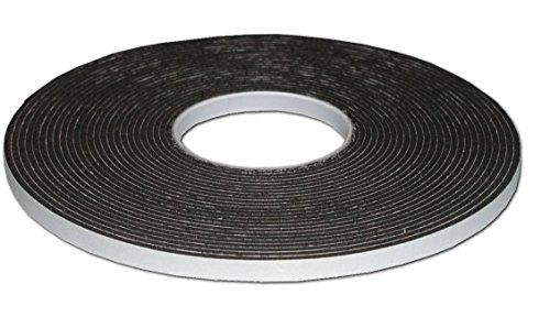 Bapna Gasket Black Foam Single Sided Adhesive Tape 10mm width x 2mm thick x 10 meter length