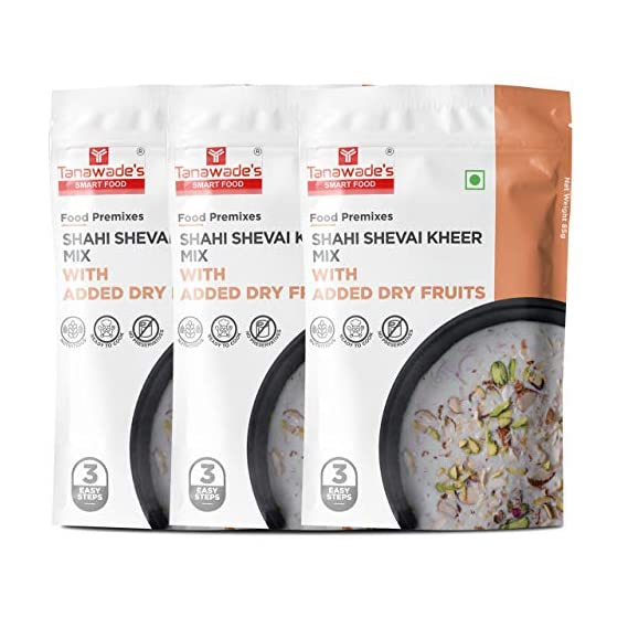 Tanawade's Smart Food Instant Shahi Shevai Kheer Mix, Ready to Cook, Home Food with Hand Picked Flavours, Pack of 3