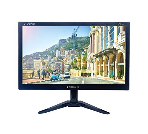 Zebronics 18.5(46.9cm) Monitor with VGA Port(Black)
