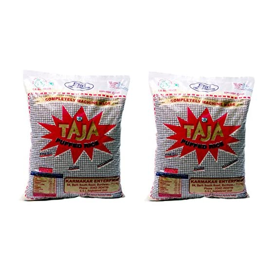 Taja Puffed Rice 500 Gms, Pack of 2 (MURI/MURMURA)
