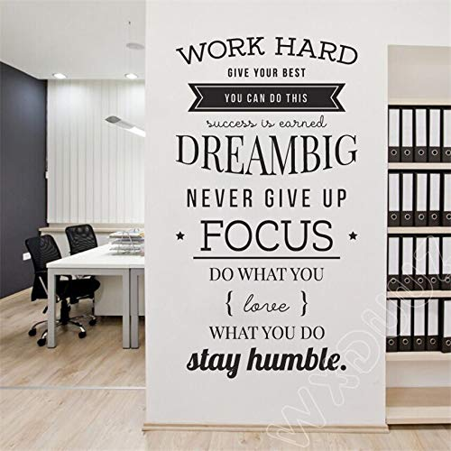 Gadgets Wrap Work Hard, give Your Best, You Can Do This, Dream Big Office Conference Vinyl Wall Stickers