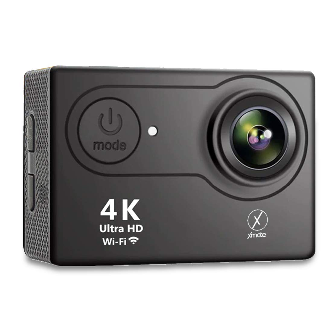 Xmate Shot Pro Sports Action Camera (Black)  16MP Camera   4K Video Recording   Water-Resistant   Supports Micro SD Card up to 32G