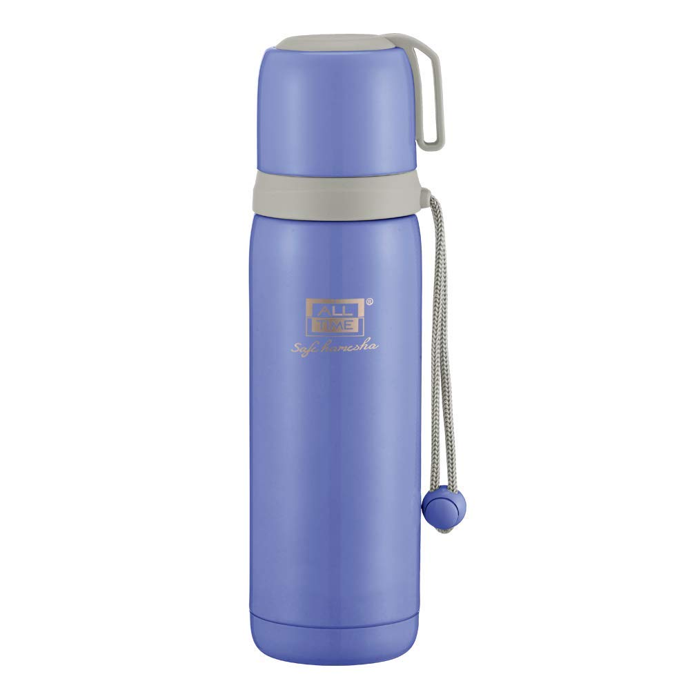 All Time Cresta Majesty Stainless Steel Flask, 500ml, Sky Blue