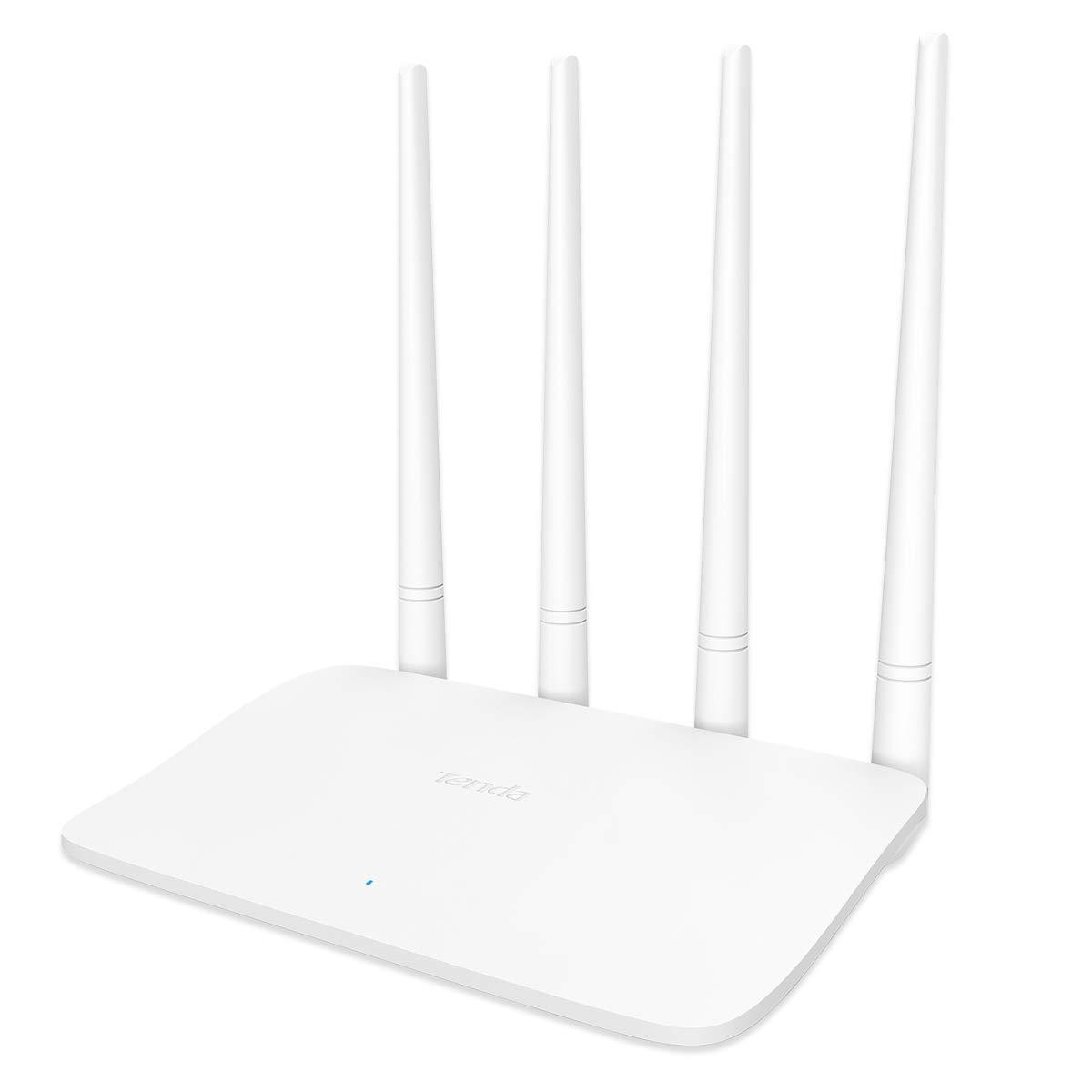 Tenda F6 Wireless N300 Easy Setup Wi-Fi Router 300 (White, Not a Modem)