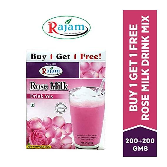 Rajam Rose Milk Drink Mix 200G Box (Buy 1 Get 1 Free)