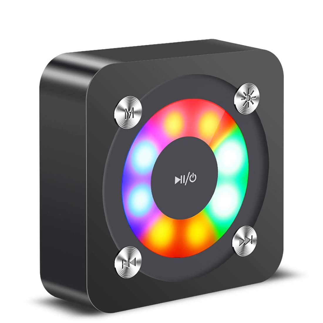 Xmate Theatre 5W Compact Bluetooth Speaker, HD Sound, Bluetooth 5.0 Wireless Speaker with 4 Hours Playback Time, Built-in Mic, Aux & Micro SD Card Support, 850mAh Rechargeable Battery - (Black)