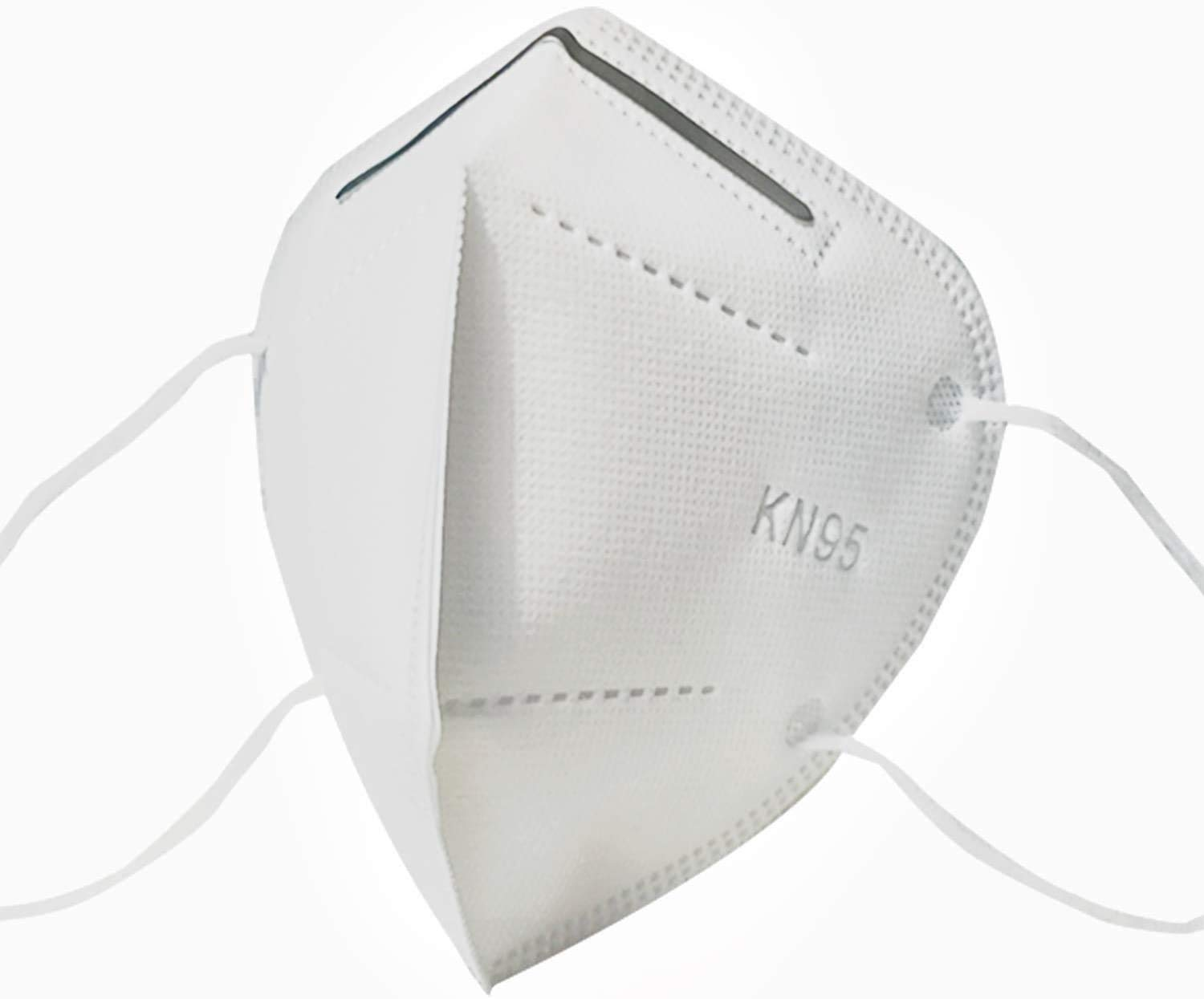 atongm KN95 Face Masks, (Pack -10 pcs) 5 Ply Anti-Pollution Mask, Unisex Mouth Face Mask Flat Fold (White)