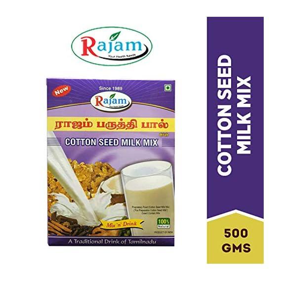 Rajam Paruthipal Powder / Cotton Seed Milk Mix 500G Box