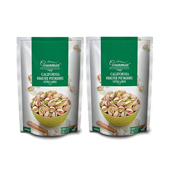 Gourmia California Roasted Pistachios Extra Large Lightly Salted 400g(200x2)
