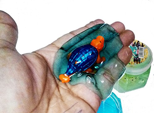 Dhinchak Art Box Design Crystal Clear 2 Piece Slime Insect Contain Putty for Kids Play (2 Count)