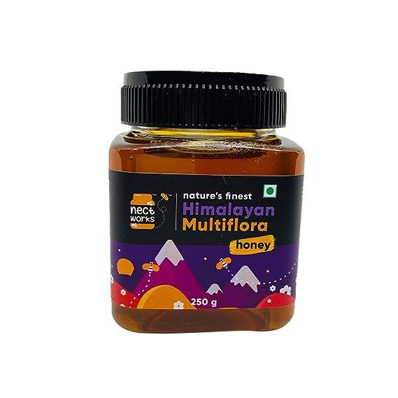 NECTWORKS - Pure Natural Himalayan Mutliflora Honey Bottle 250gms