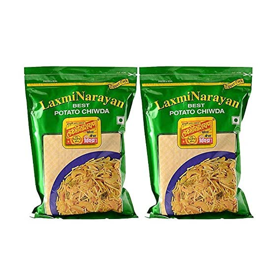 Laxminarayan Chiwda - Pune | Indian Snacks | Namkeen (Aloo Chiwda 500g x 2)