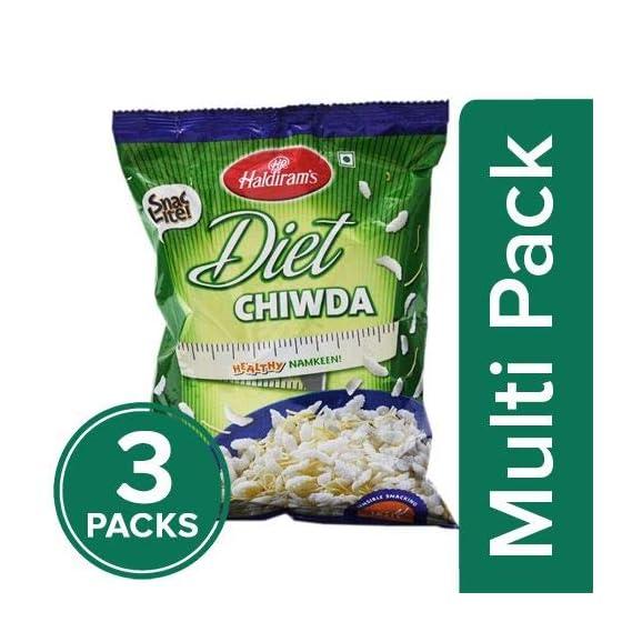 Haldirams Namkeen - Diet Chiwda (Del) 150gm (Pack of 3)
