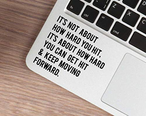 ISEE 360® Laptop Decal Keep Moving Forward Stickers & Decals for All Laptop & Computer Accessories Black L x H 7.30 x 8.60 cm