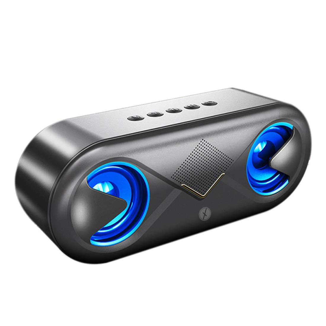 Xmate Volt Bluetooth Speaker with 10W Speakers, Portable Wireless Speakers with Bluetooth 5.0, Subwoofer, Up to 10 Hours of Music Playtime, Aux/TF Card/USB Support for All Smartphones (Black)